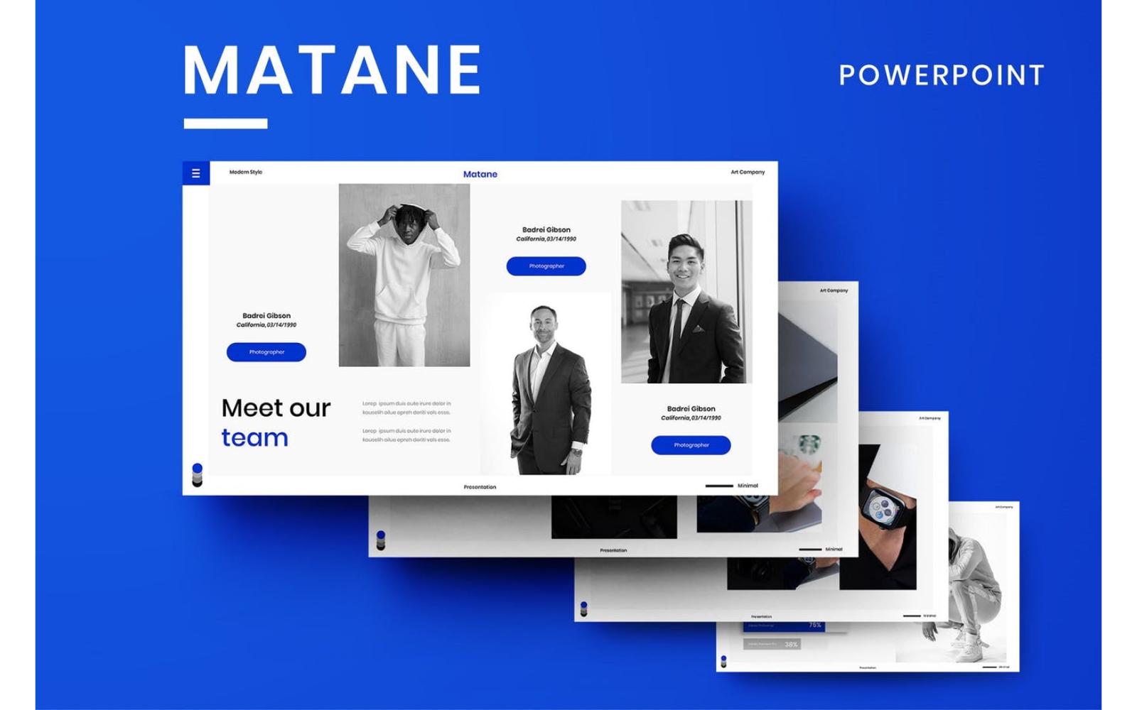 Matane – Business PowerPoint Templat