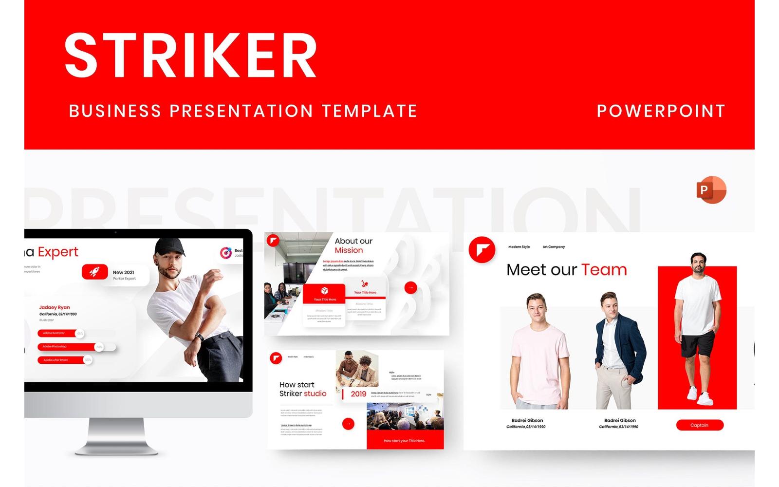 Striker – Business PowerPoint Template