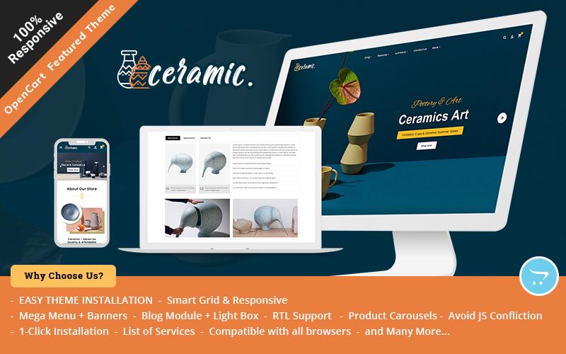 Ceramic - Multipurpose Responsive OpenCart Theme for Sell Pottery & Ceramics Online