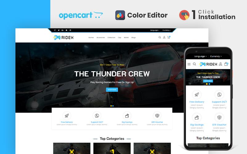 Ridex Game Store Opencart Theme