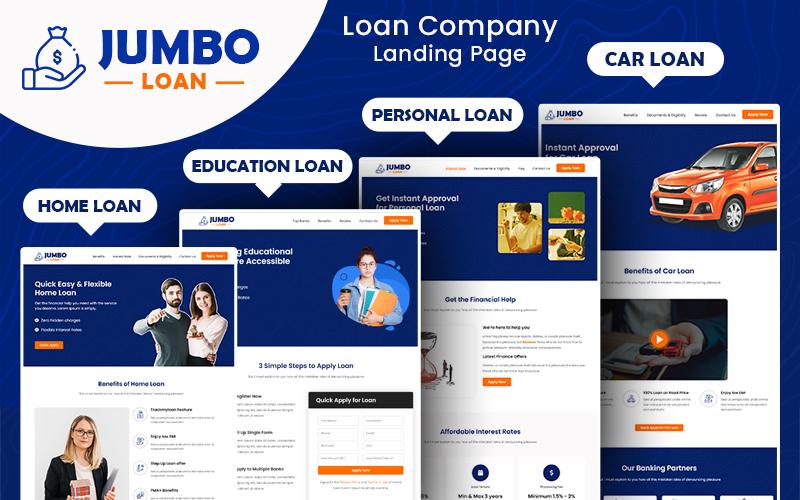 JumboLoan - Loan Company Bootstrap HTML5 Landing Page