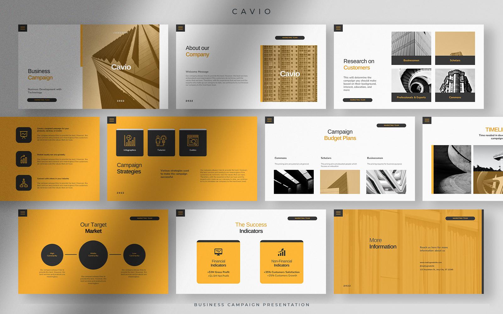 Cavio - Refined Oil Business Campaign Presentation