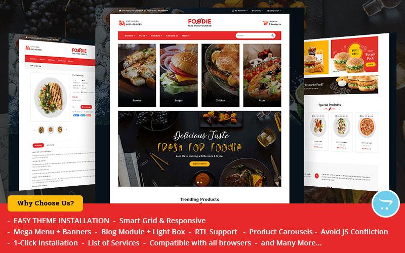 Foodie Fast-Food corner - OpenCart Multipurpose Theme