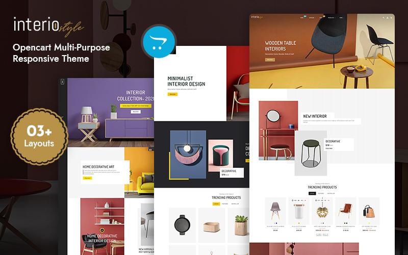 Interio- Furniture & Interior Multipurpose  OpenCart Theme