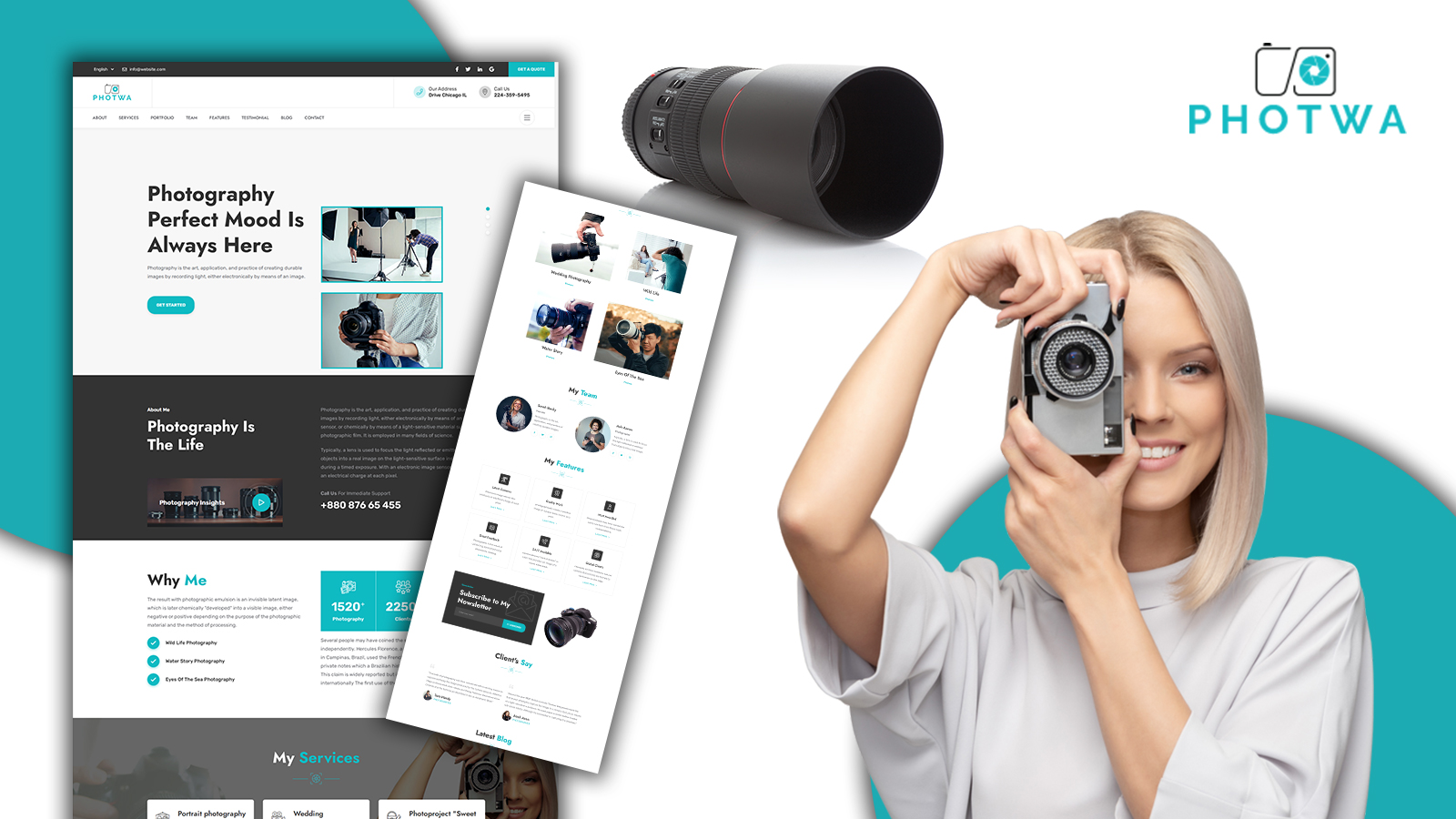 Photwa Creative Photography Portfolio Landing Page HTML5 Template