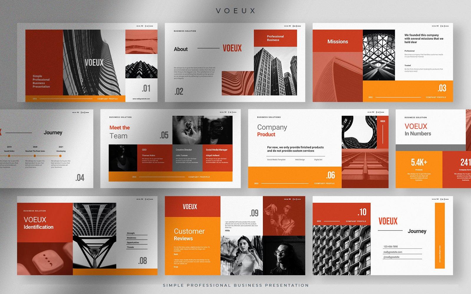 Voeux - Autumn Maple Leaves Simple Professional Business Presentation