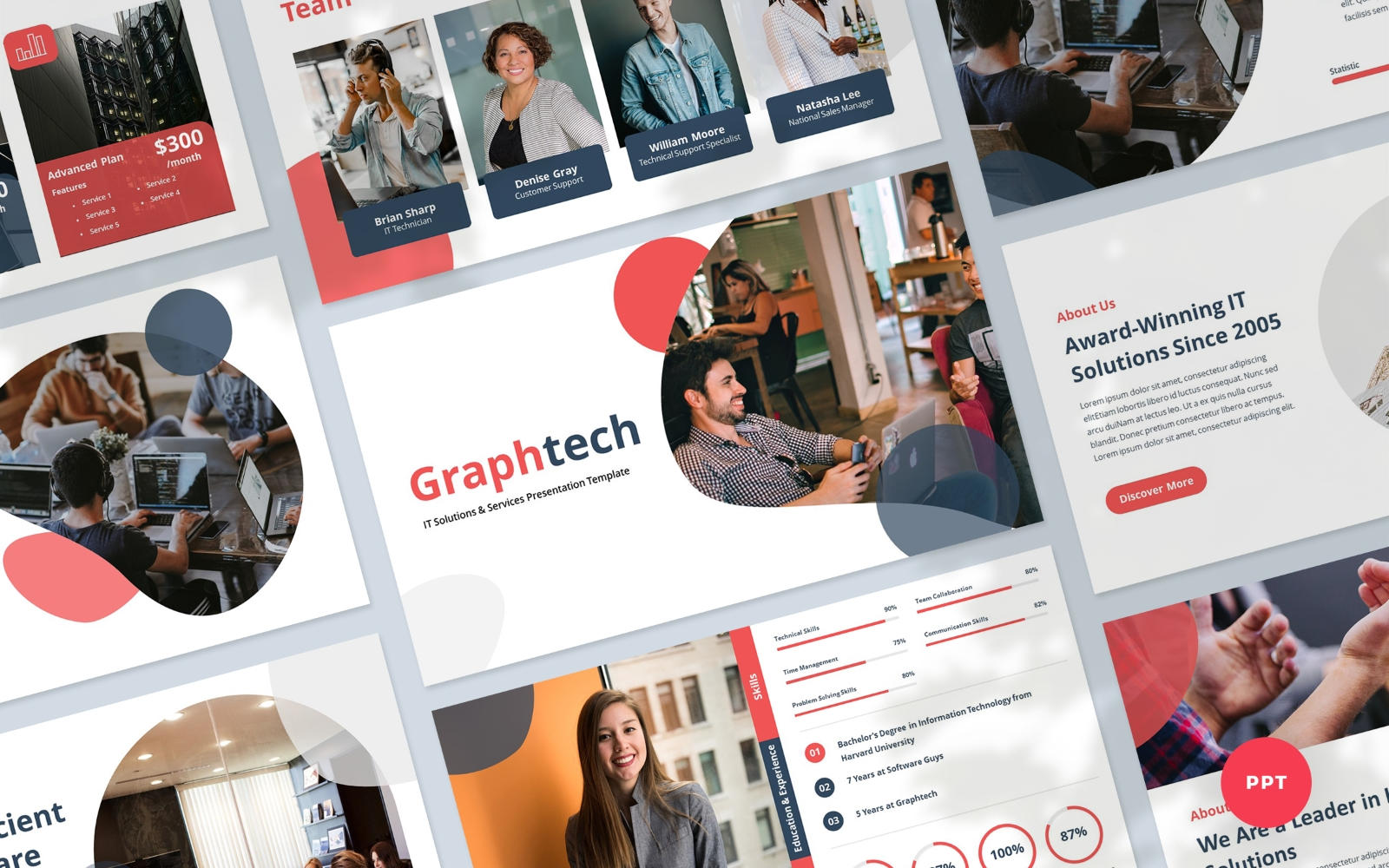 Graphtech - IT Solutions and Services PowerPoint Presentation Template
