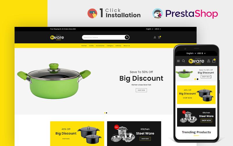 Kitchenware Kitchen & Accessories Prestashop Theme