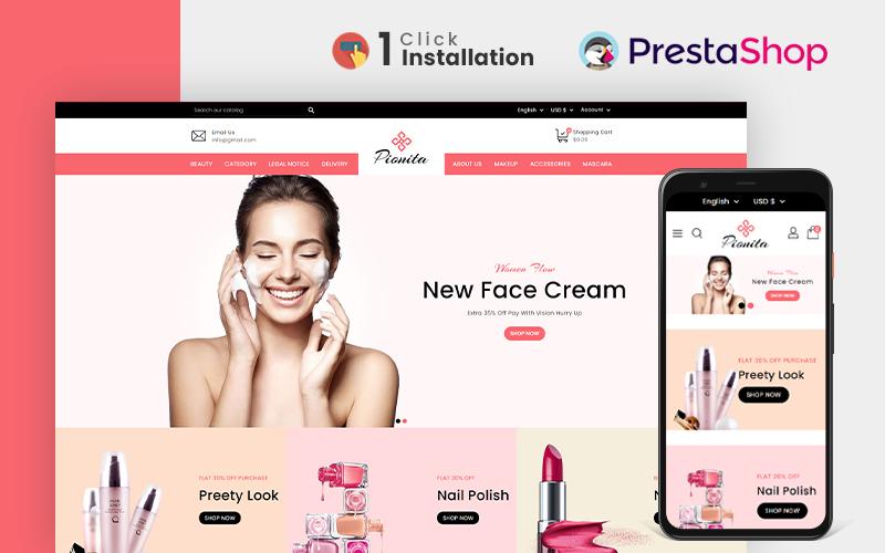 Pionita Cosmetics PrestaShop Theme