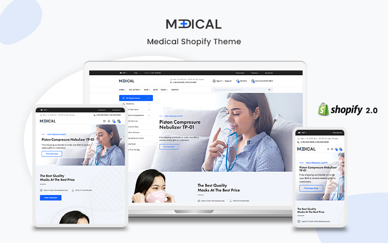 Medical - The Responsive Multipurpose Shopify eCommerce Theme