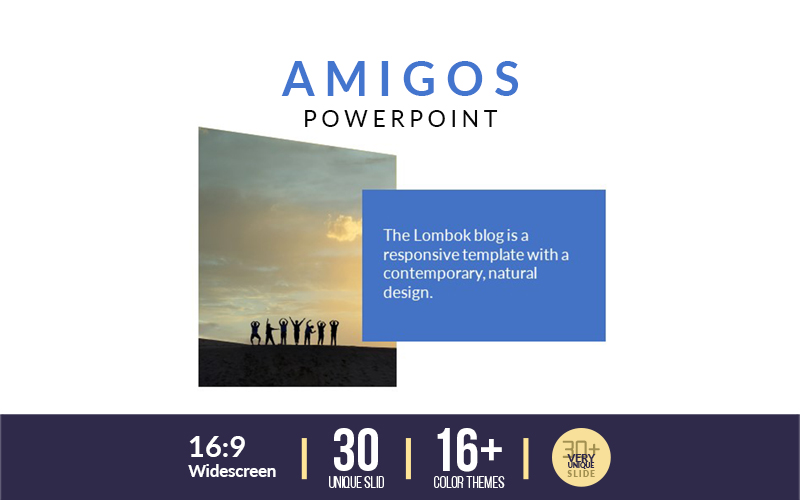 Amigos Business Presentation Infographic-PowerPoint