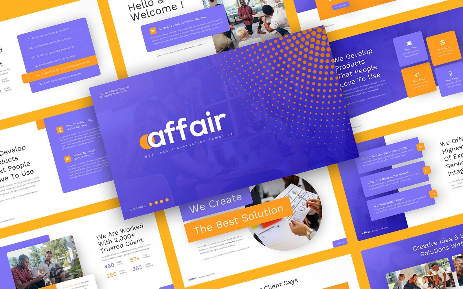 Affair - Business PowerPoint Template