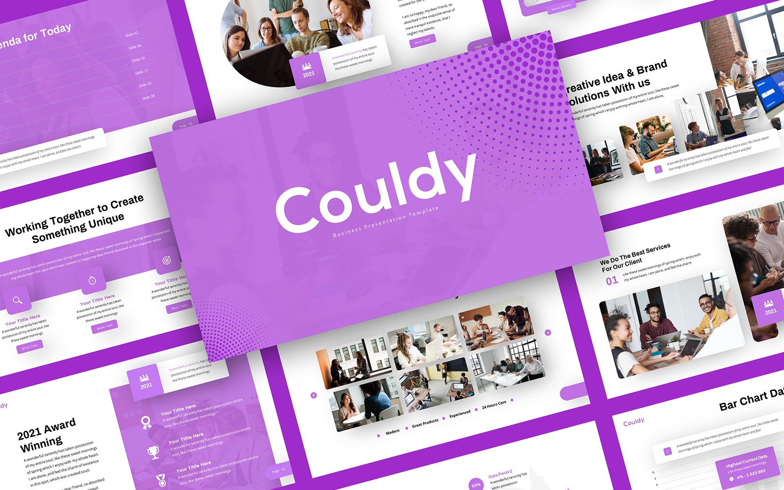 Couldy - Business PowerPoint Template