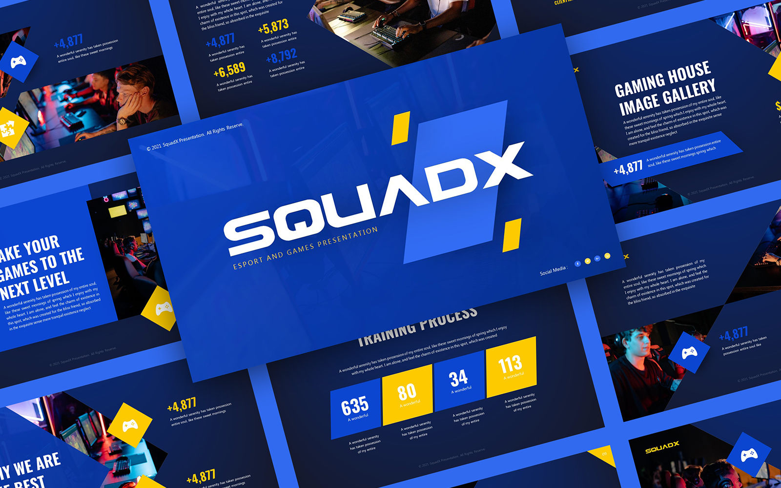 SquadX - Esport and Games PowerPoint Template