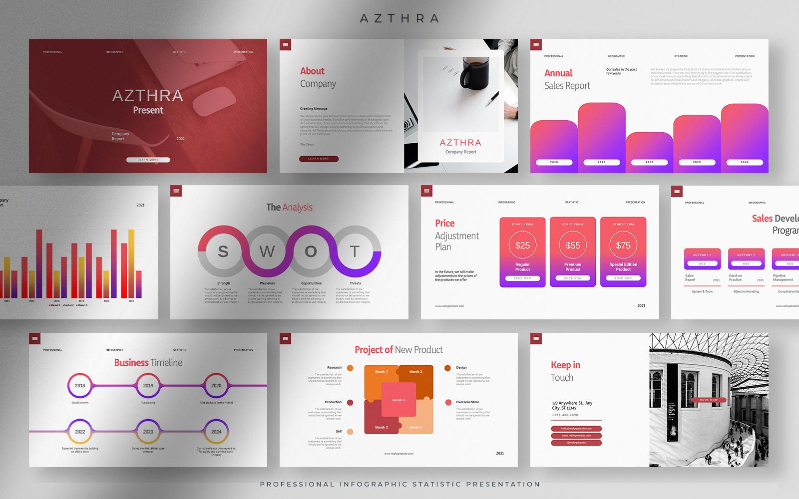 Azthra - Professional Infographic Statistic Presentation