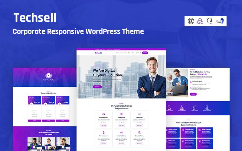 Techsell - Corporate Responsive WordPress Theme