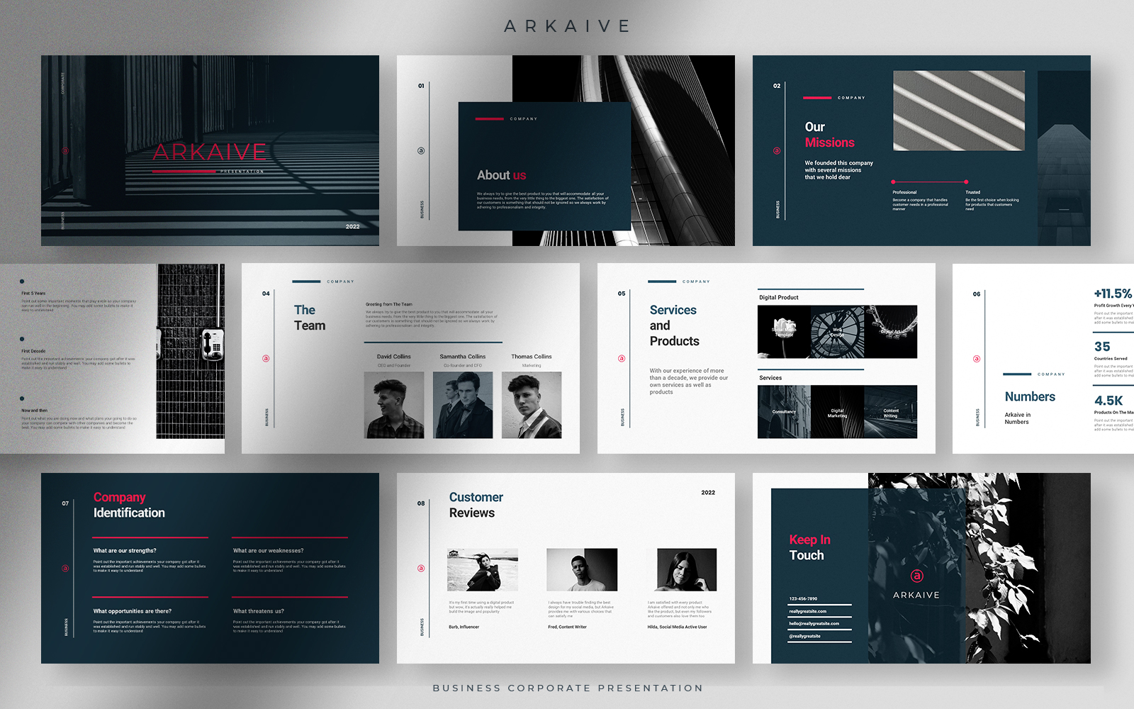 Arkaive - Modern Professional Business Corporate Presentation