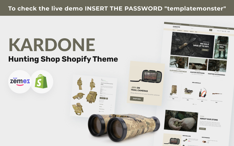 Kardone Hunting and Outdoor Shopify Theme