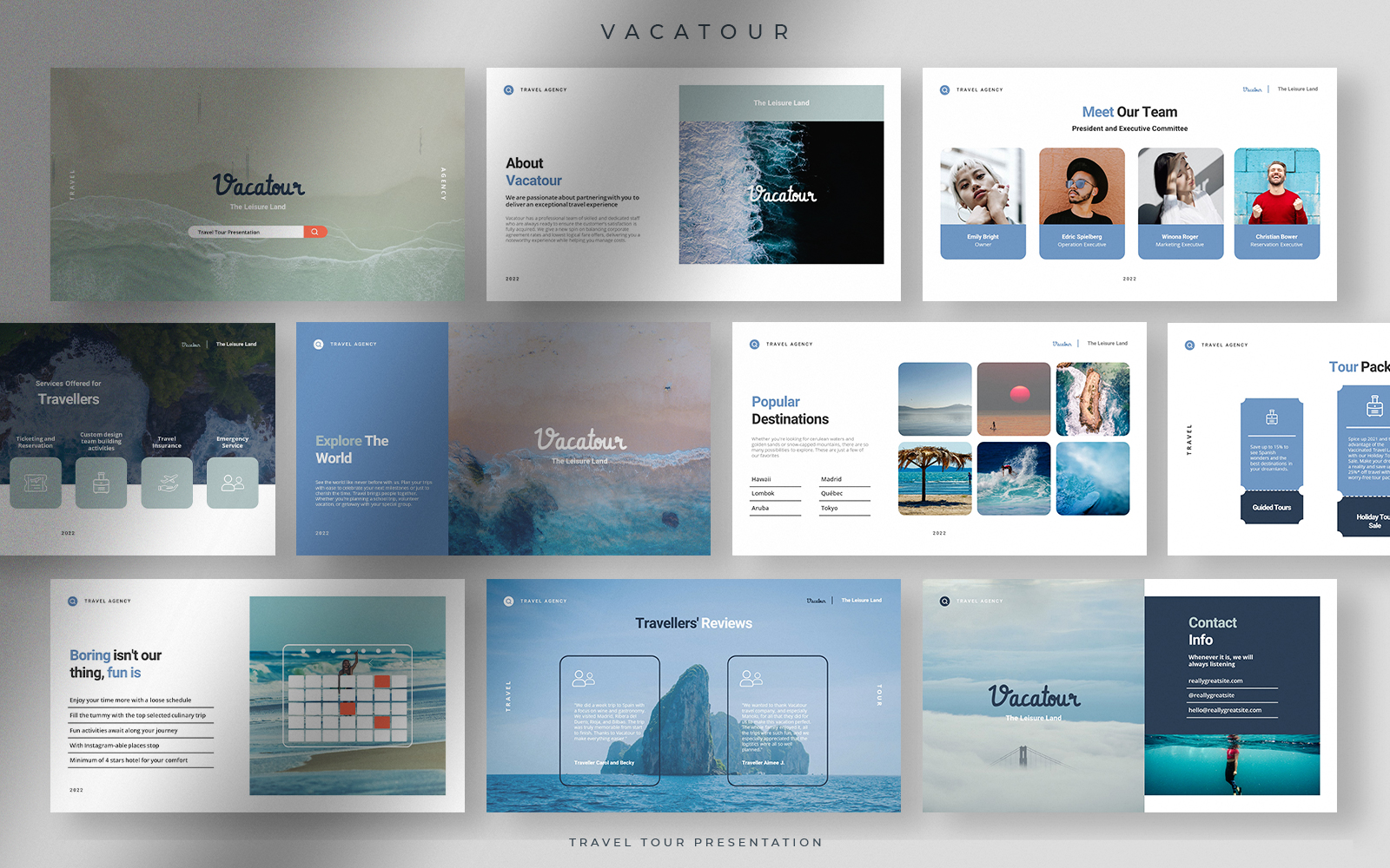 Vacatour - Modern Professional Travel Tour Presentation Template