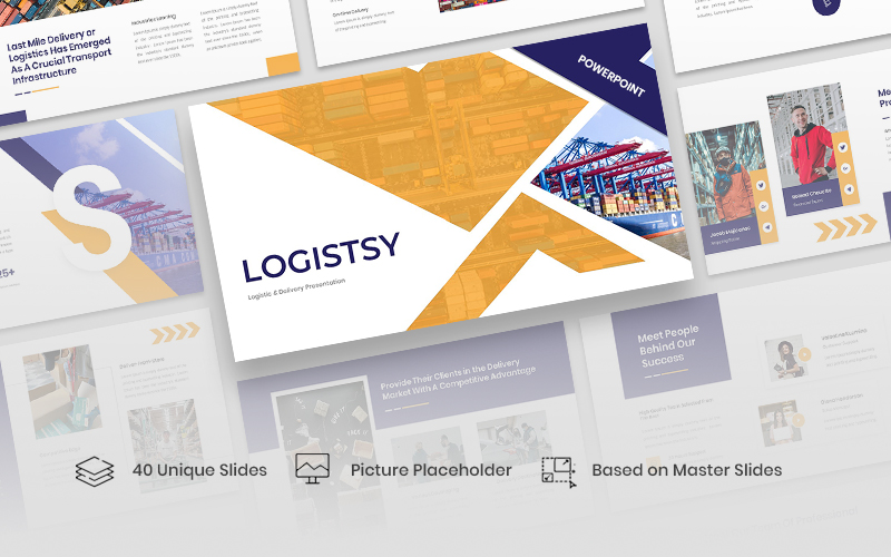 Logistsy - Logistic & Delivery PowerPoint Template