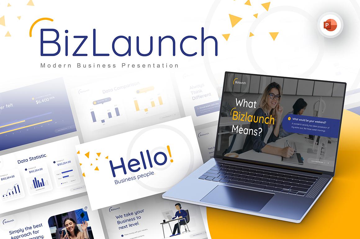 BizLaunch Modern Business PowerPoint Template