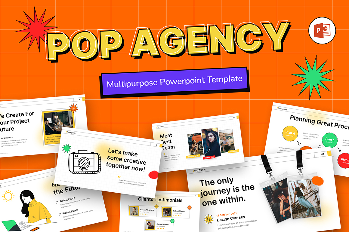 Pop Agency Creative Business PowerPoint Template