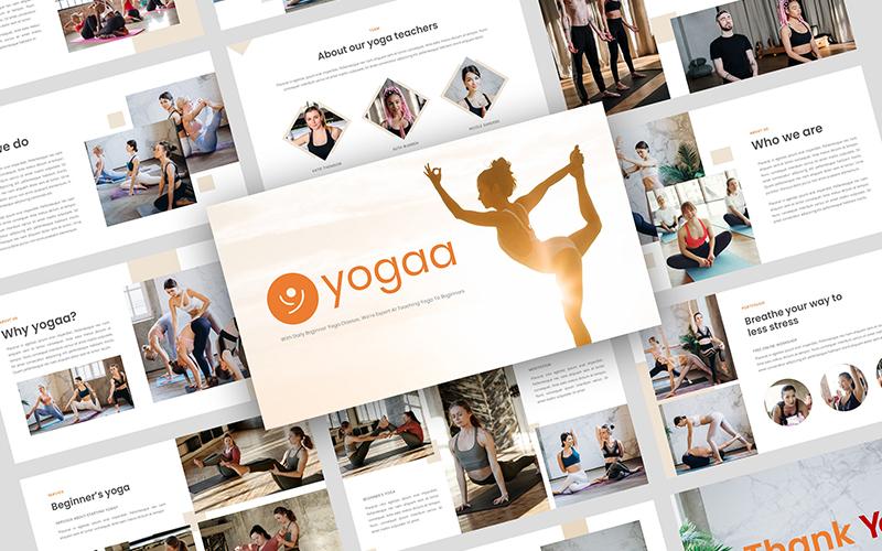 Yogaa - Yoga Presentation PowerPoint Template