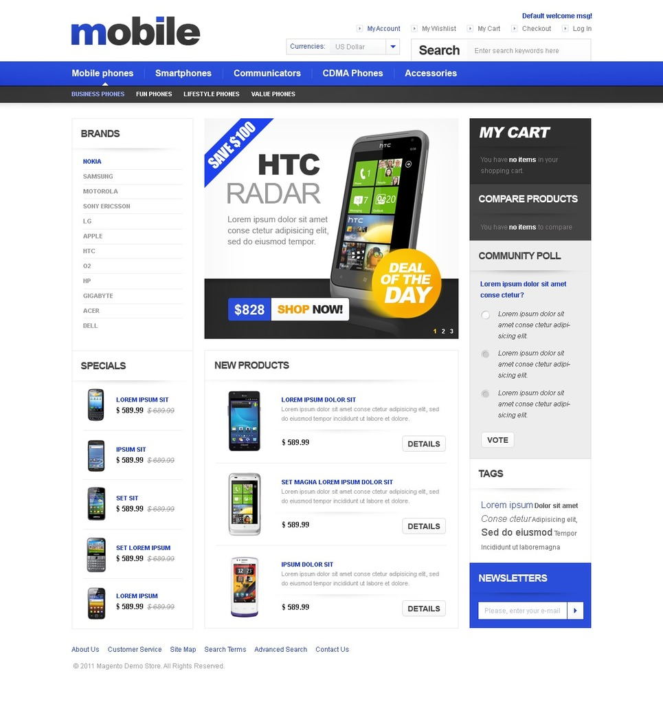 Electronics Template Magento Theme Properhost