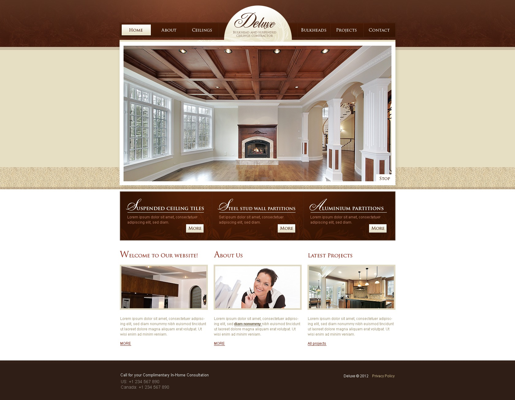 Template 37050 : Home Remodeling PSD Template Website