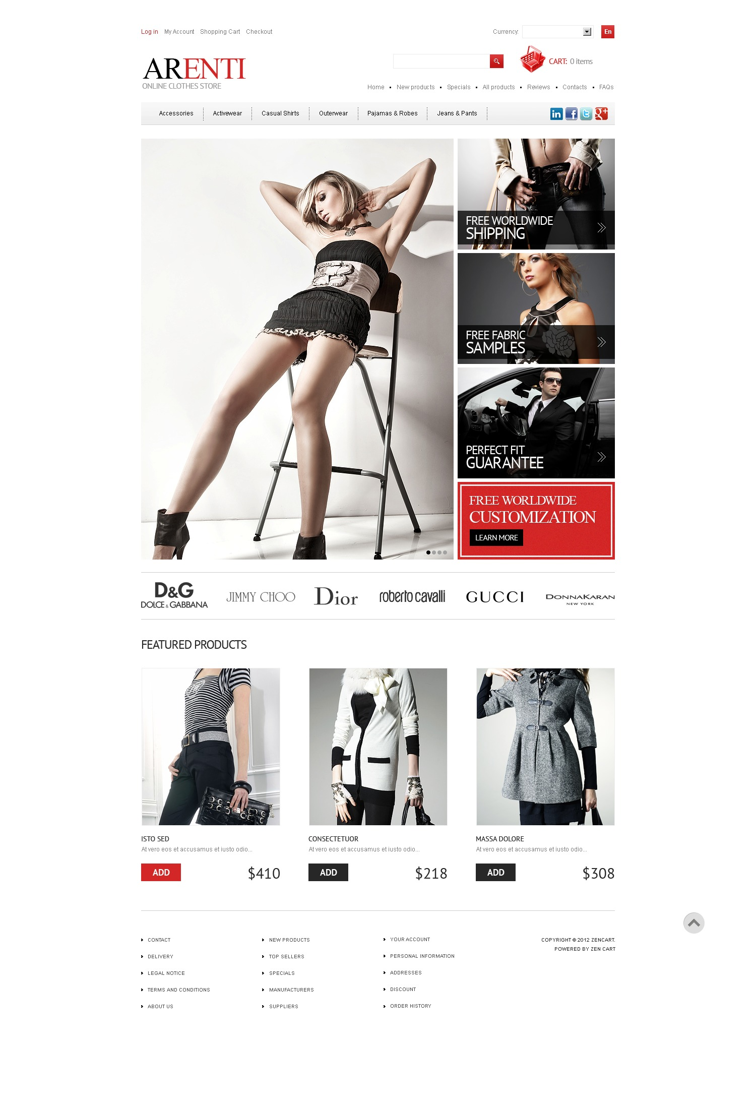 Perfect Style ZenCart Template