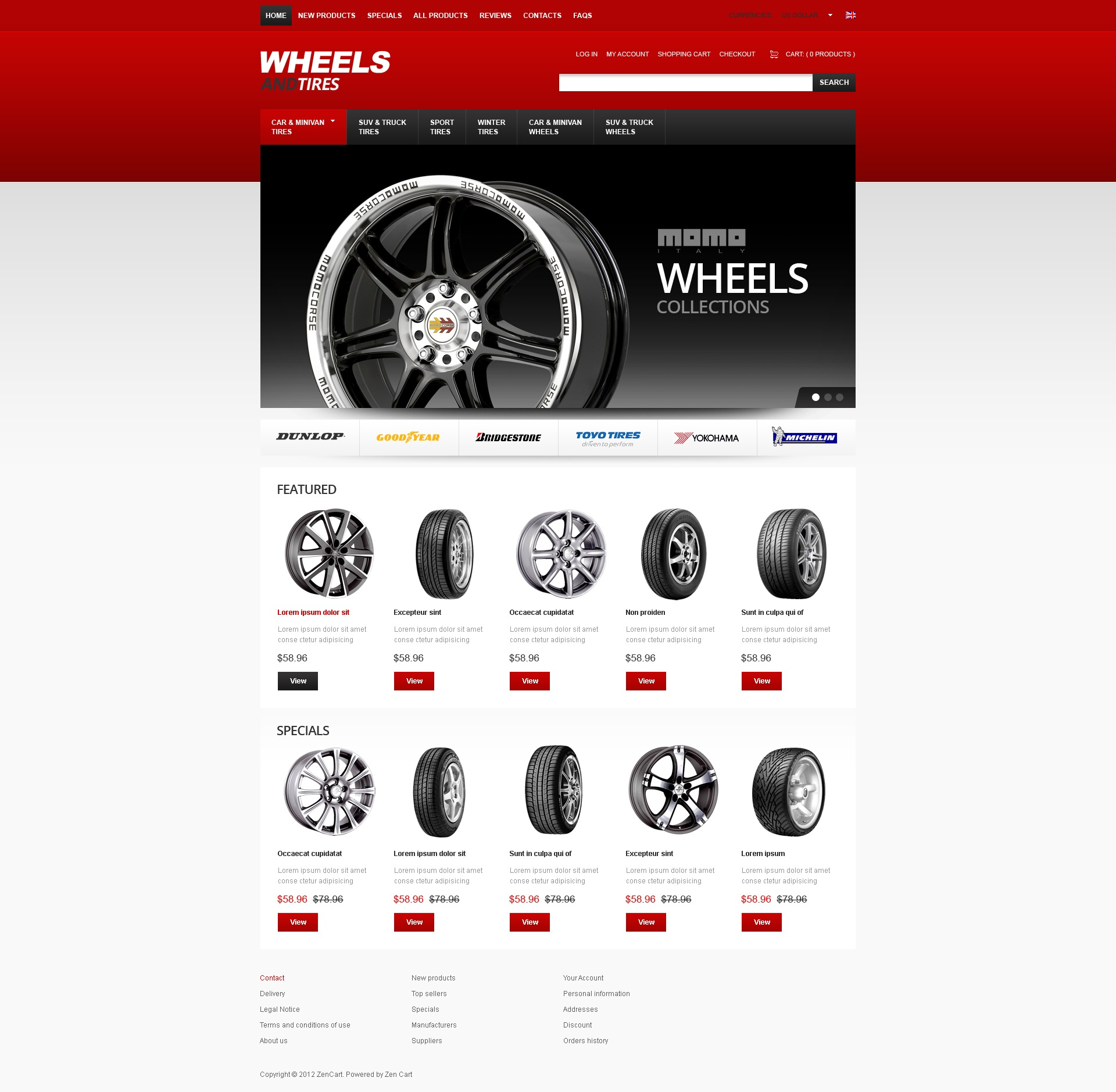 Wheels for All Seasons ZenCart Template
