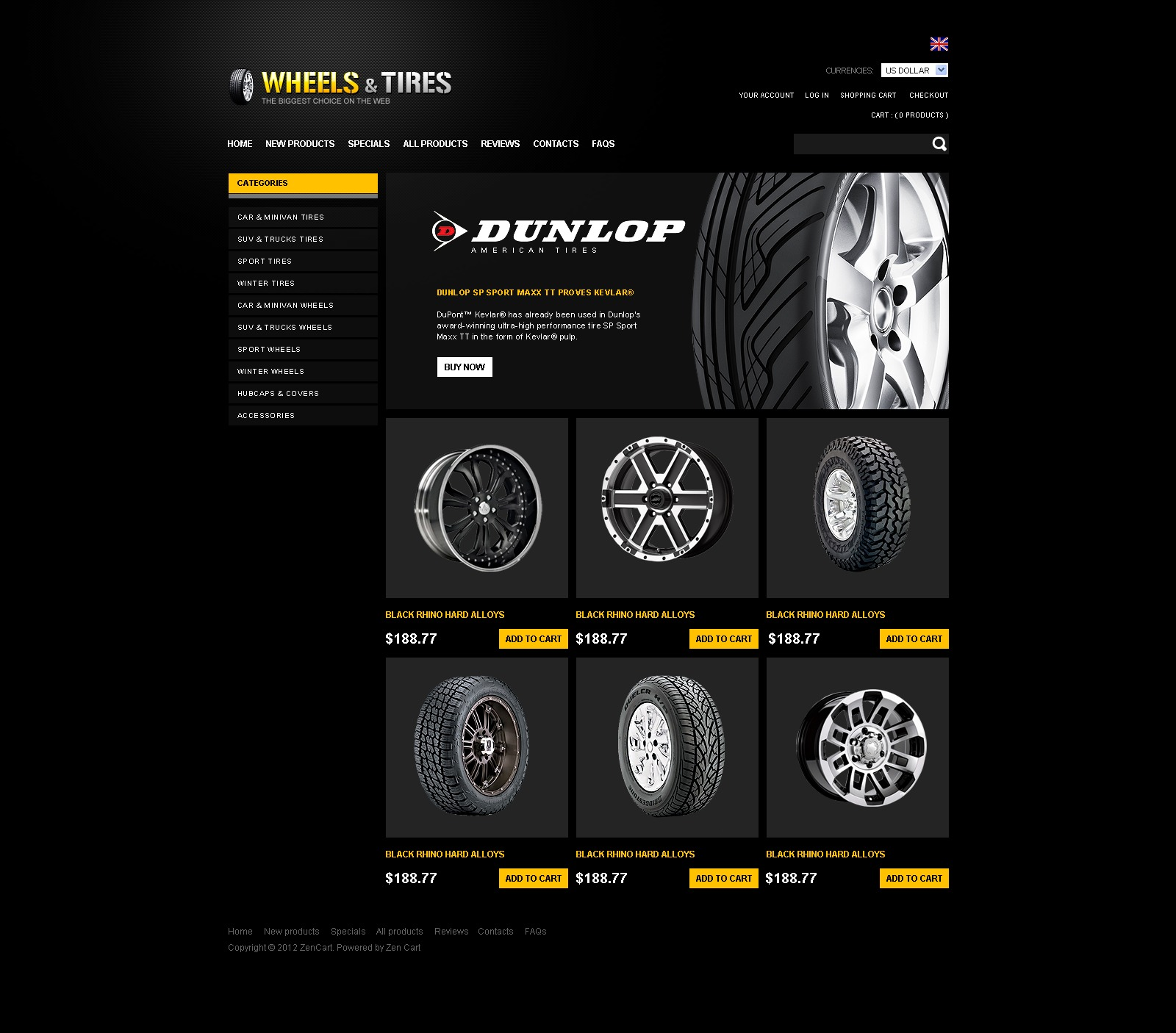 Wheels for Any Road ZenCart Template