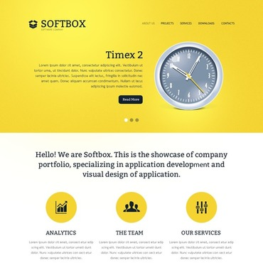 Template Software HTML, JS şi CSS #40953