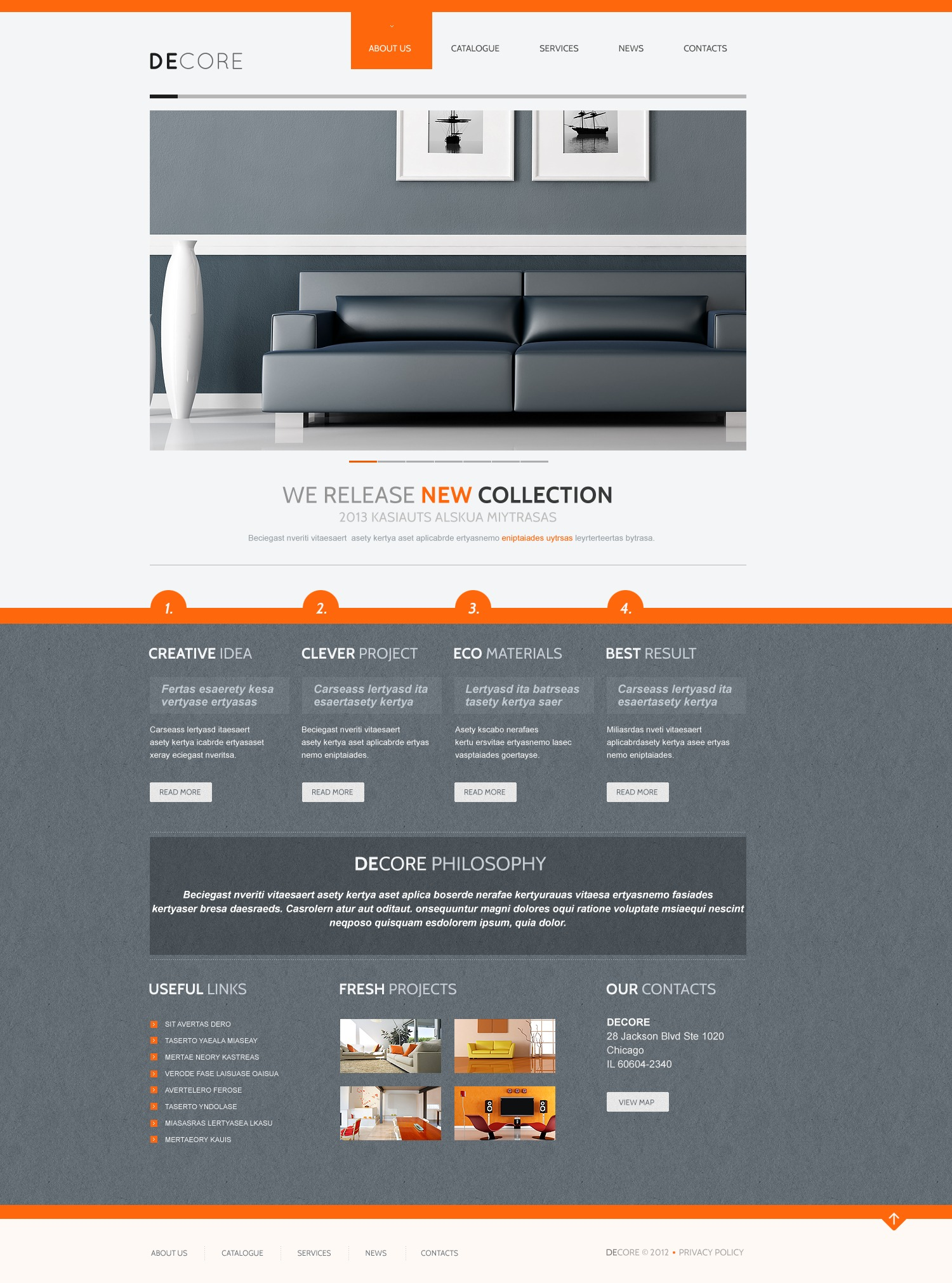 Home Decor Joomla Template