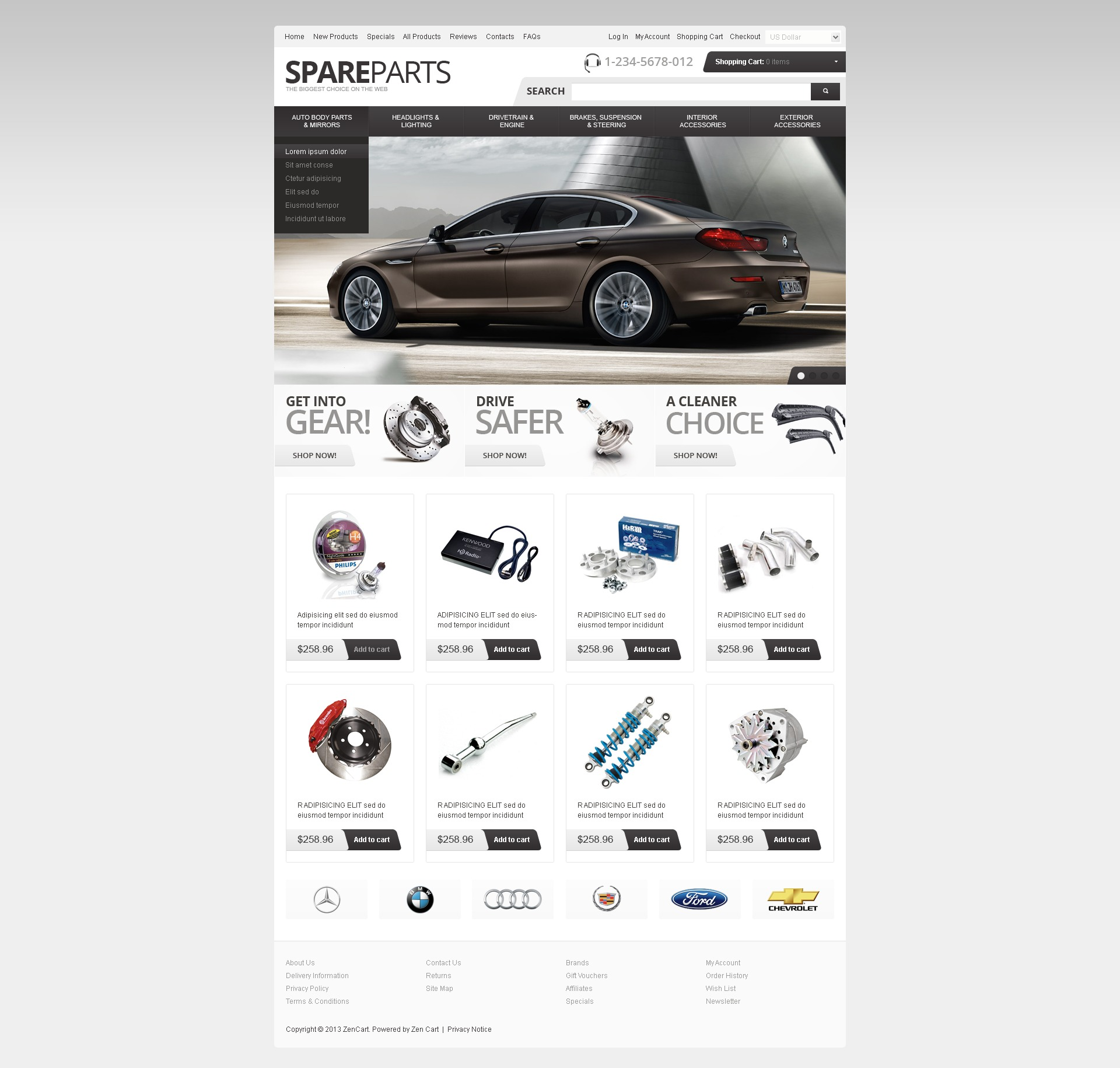 Spare Parts ZenCart Template