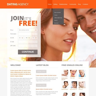 free dating websites templates
