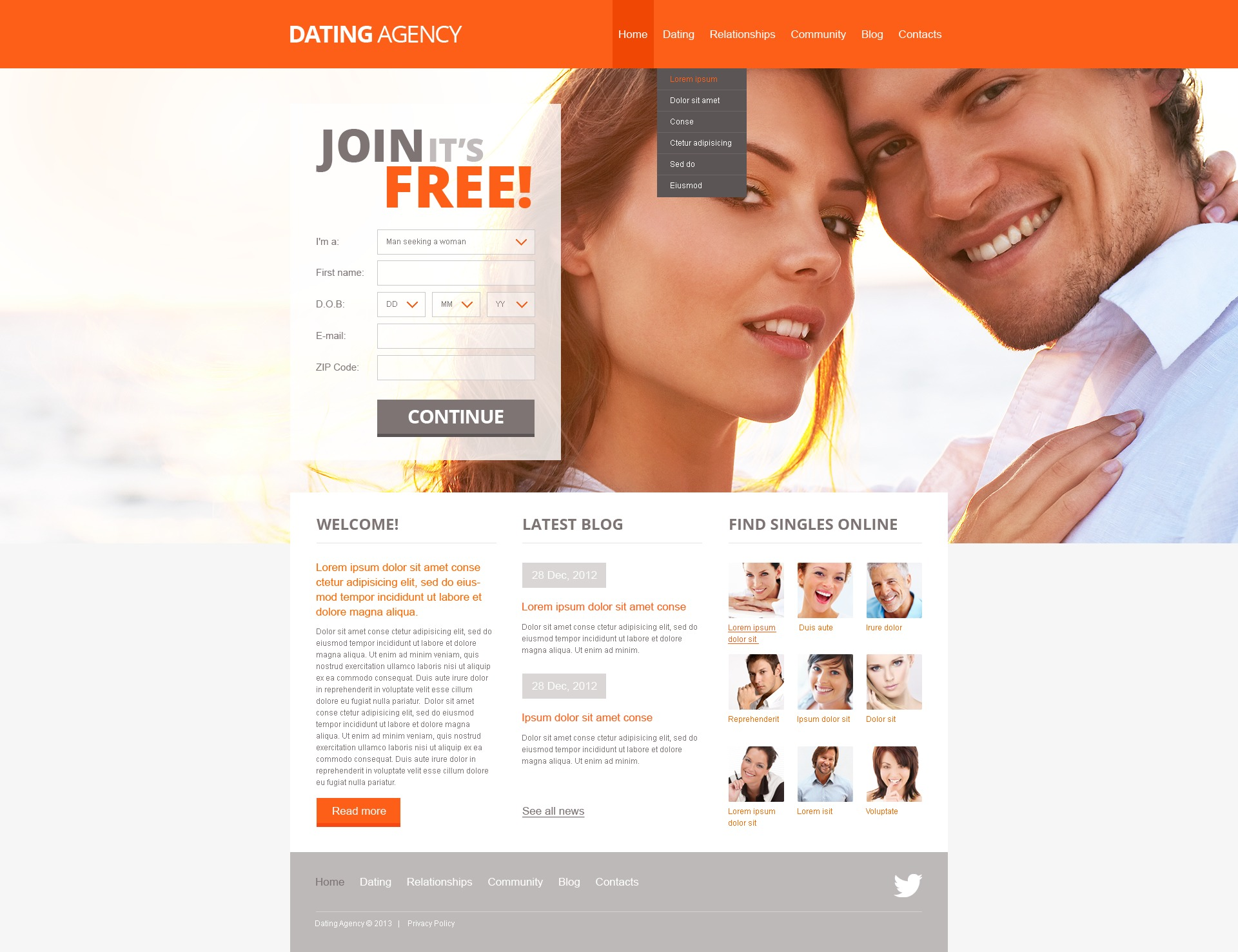 Joomla Dating-Website Thema