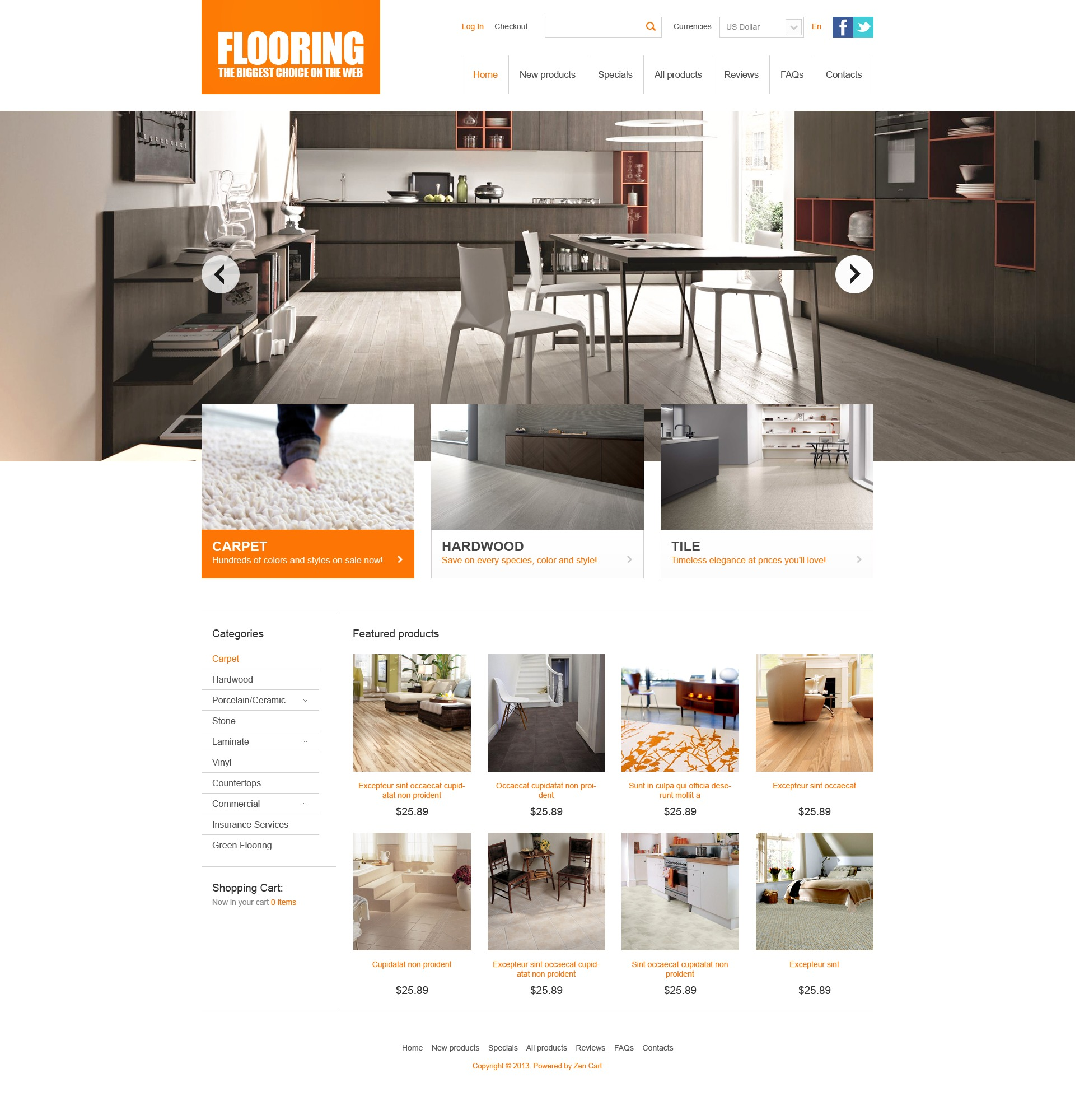 Flooring Theme ZenCart Template