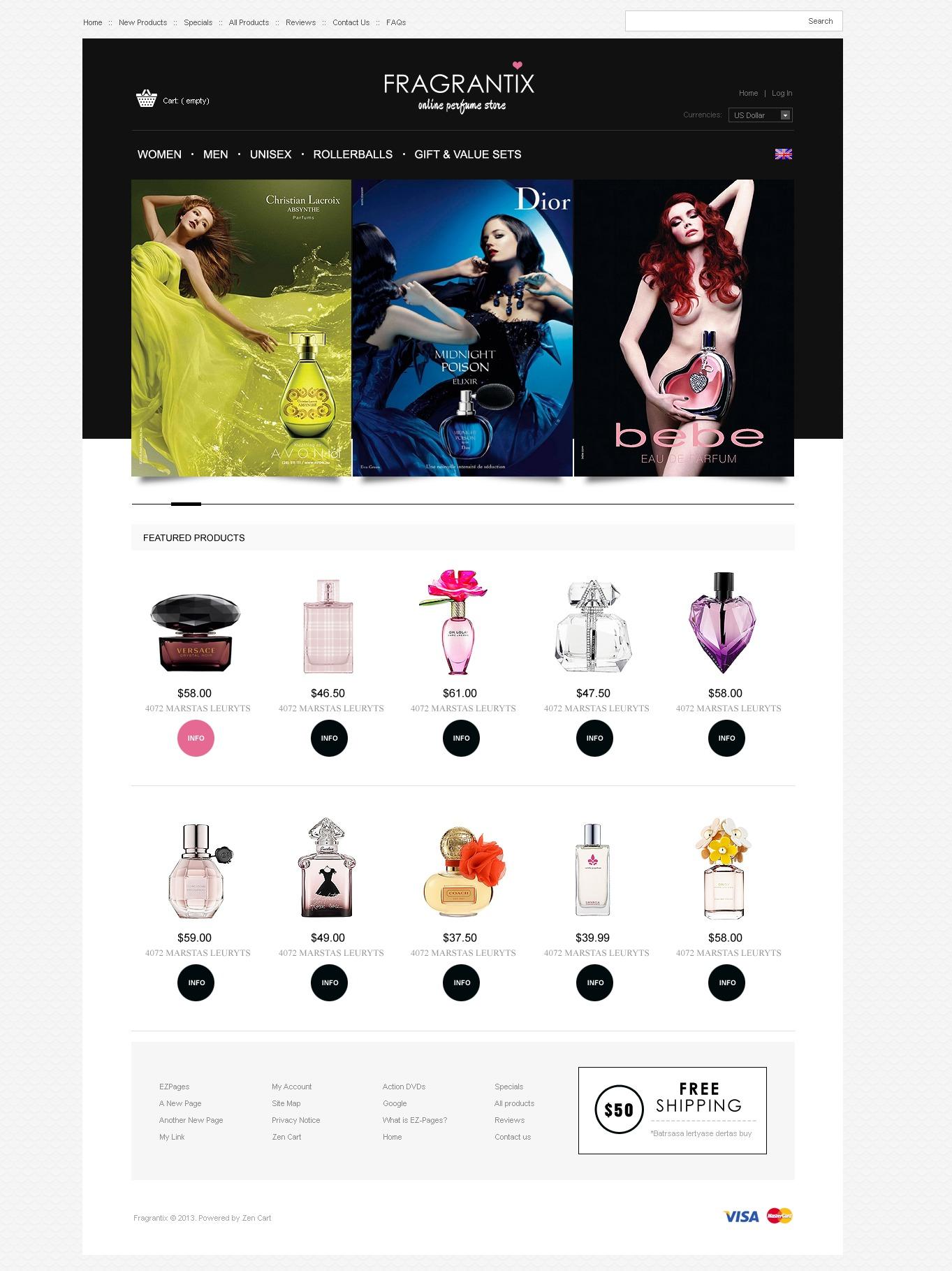 Fragrance Store ZenCart Template