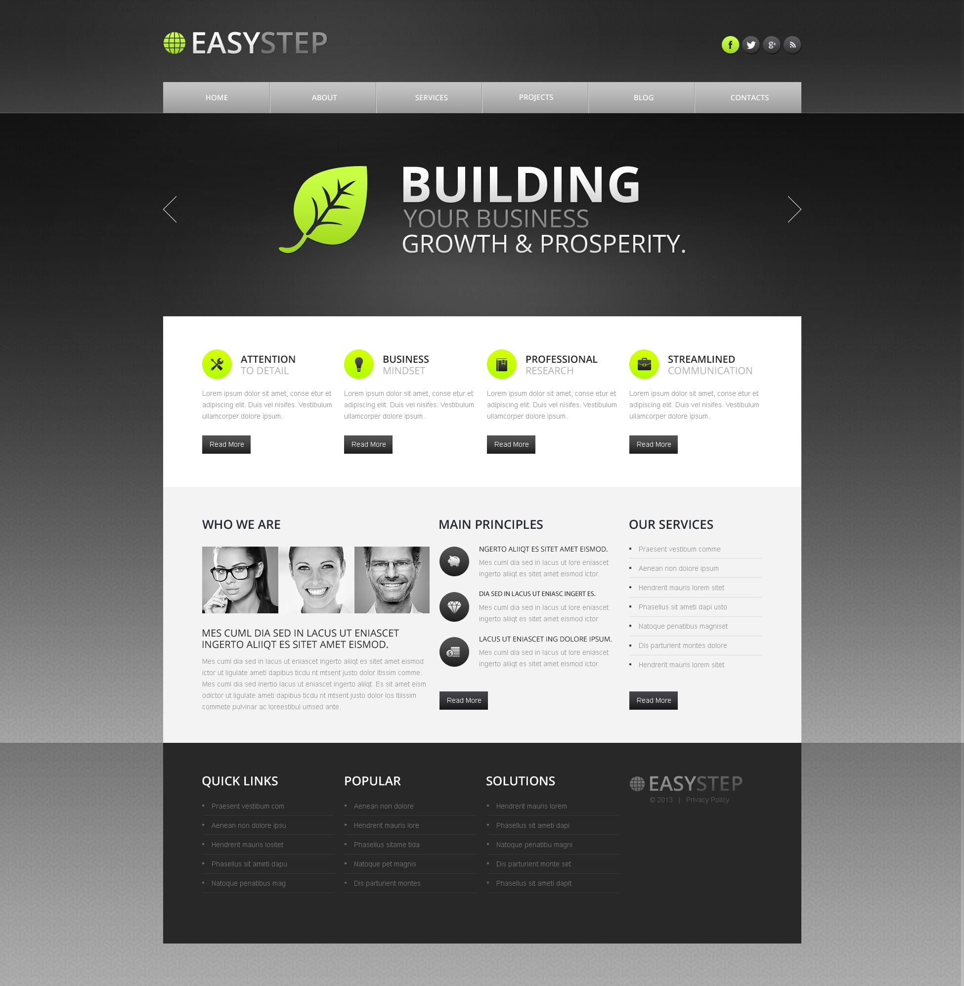 Conceptual Marketing Agency Drupal Template