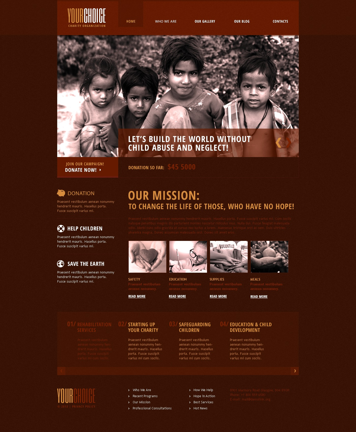 Red Charity Drupal Template