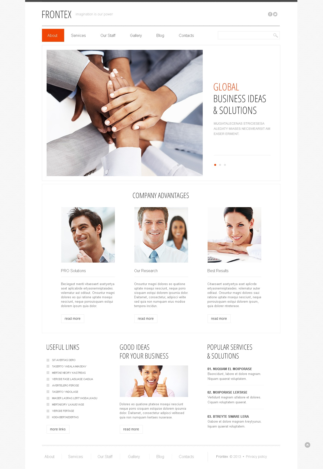 Responsive Financial Advisor Drupal Template