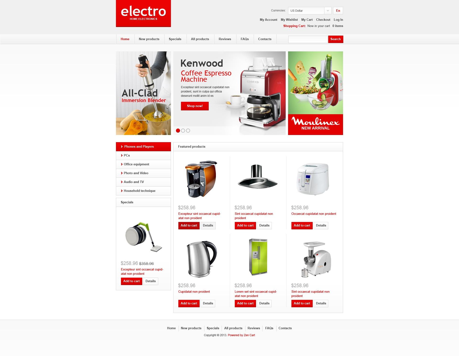Electro ZenCart Template