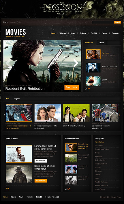 Internet Movie Database, Drupal Theme