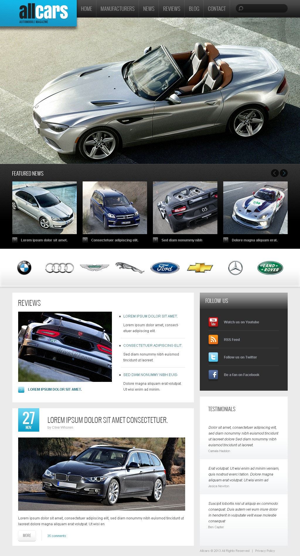 Automobile Club Drupal Template