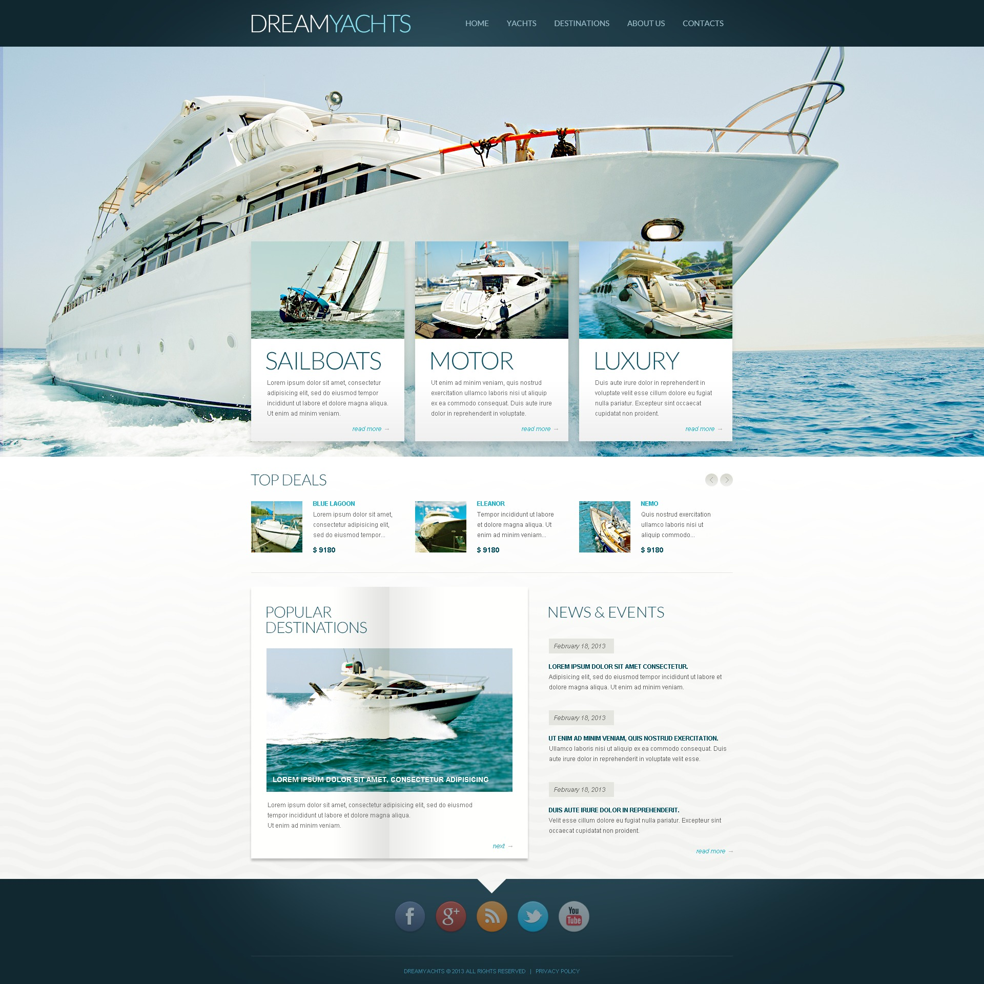 Yachting Blog Drupal Template