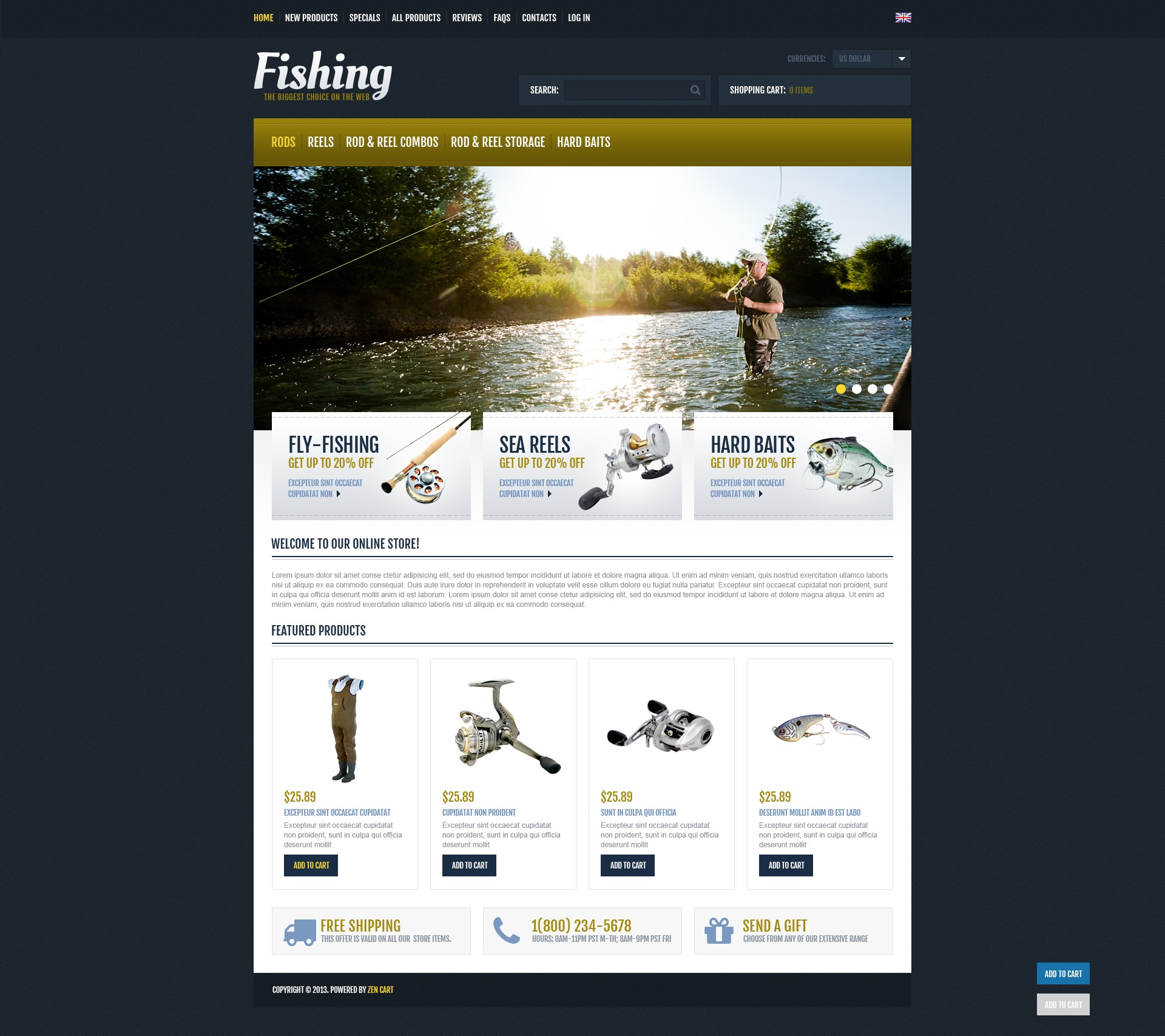 Fishing Expert ZenCart Template