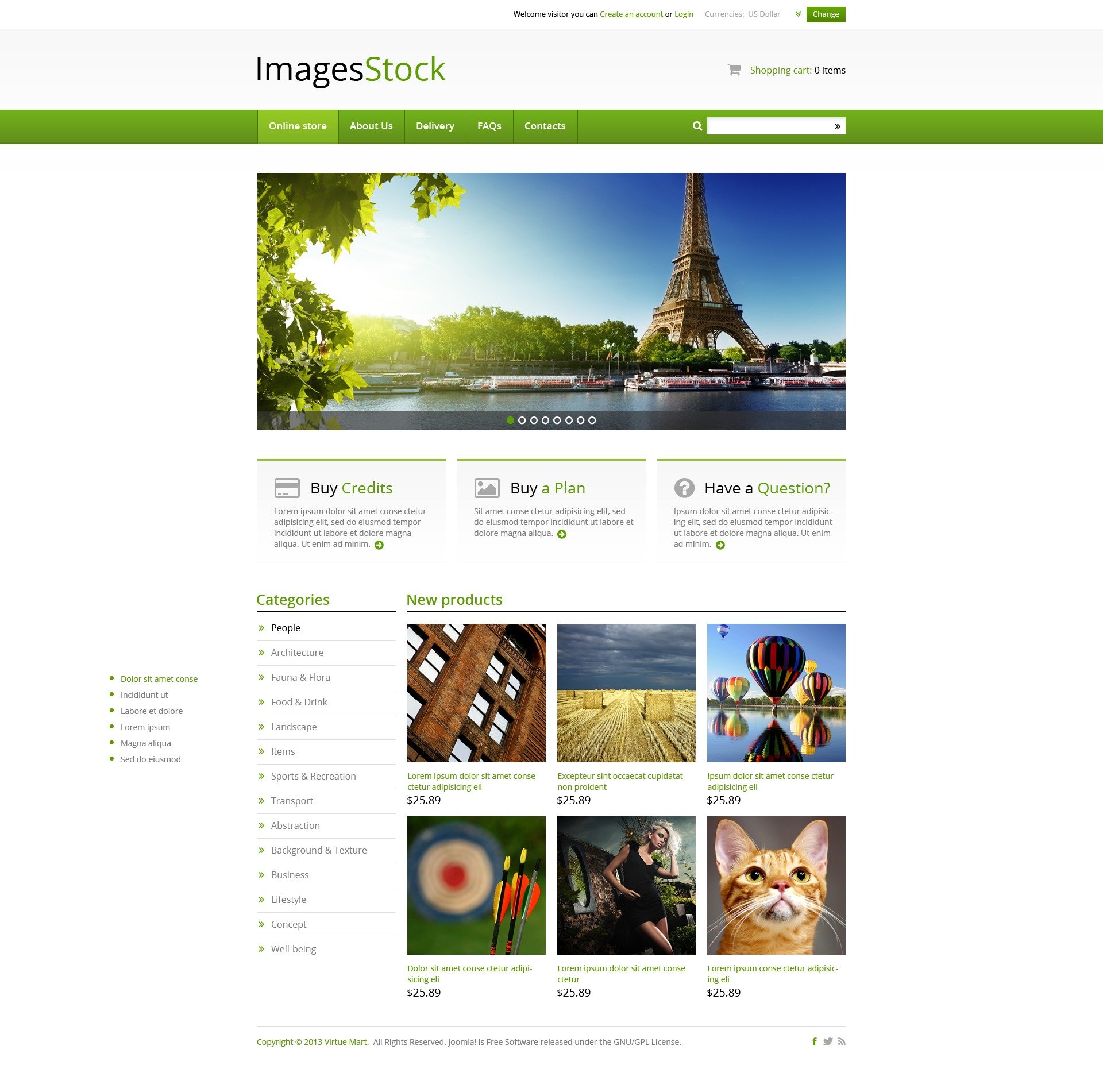 Image Stock VirtueMart Template
