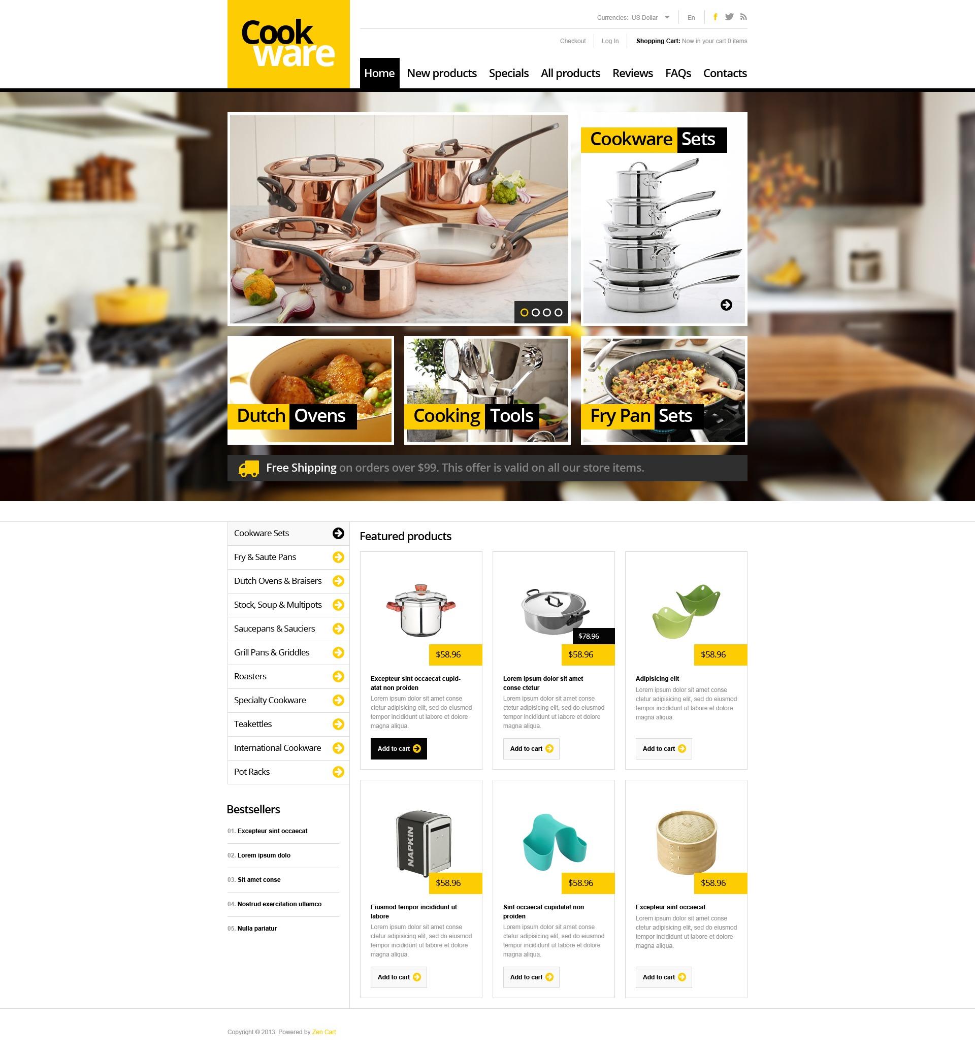 Finest Cookware ZenCart Template