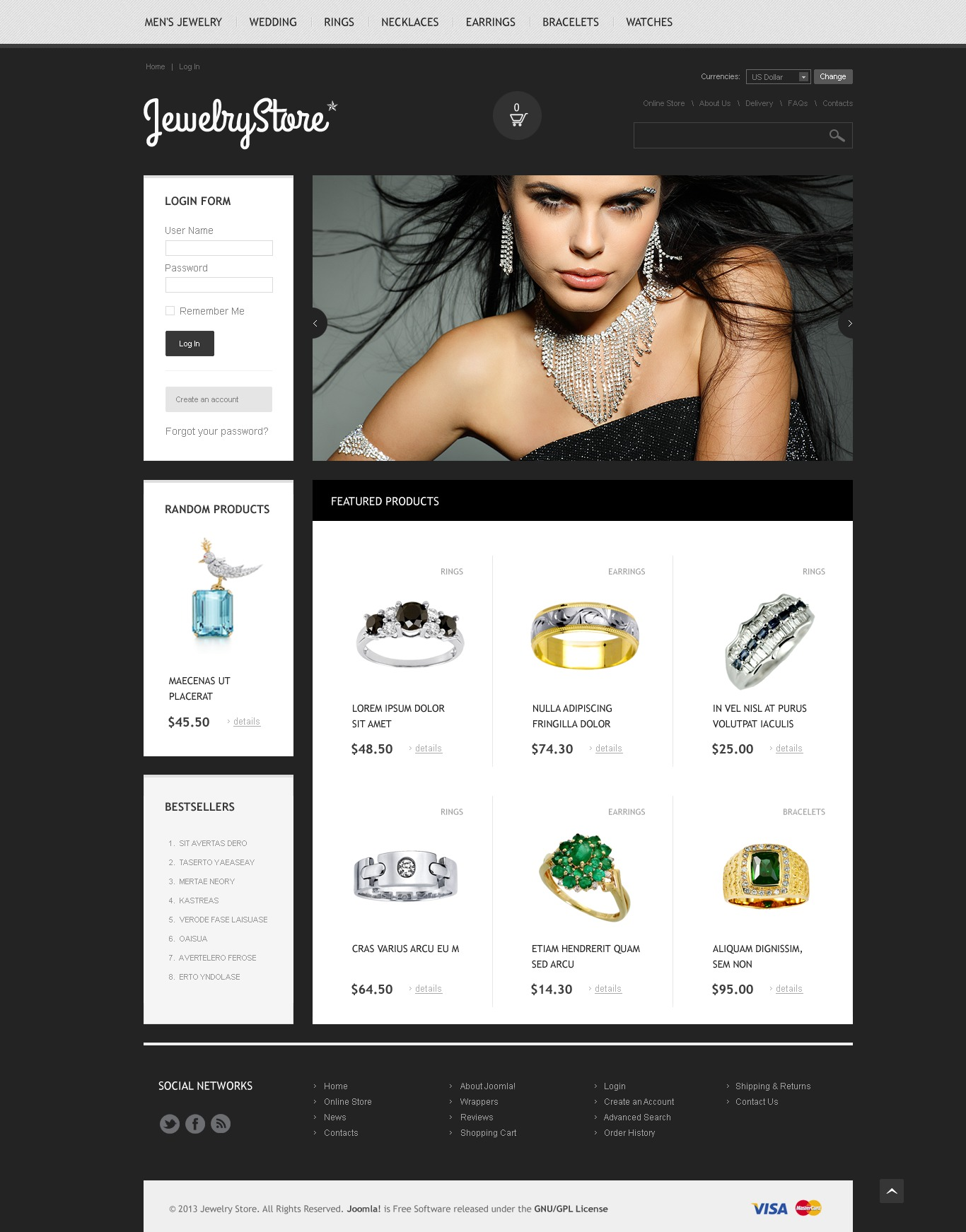 Jewelry Store VirtueMart Template